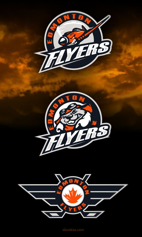 Edmonton Flyers Hockey Club Identity on Behance logos