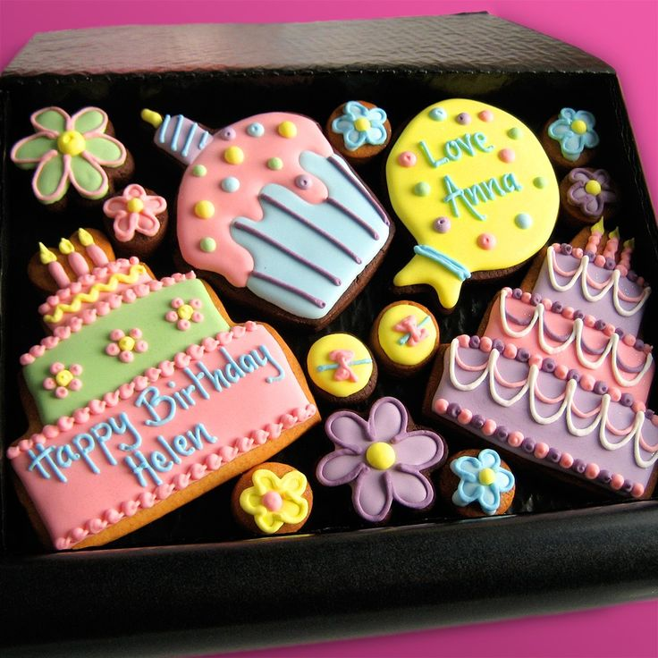 54 best Cookies Birthdays images on Pinterest Frosted cookies