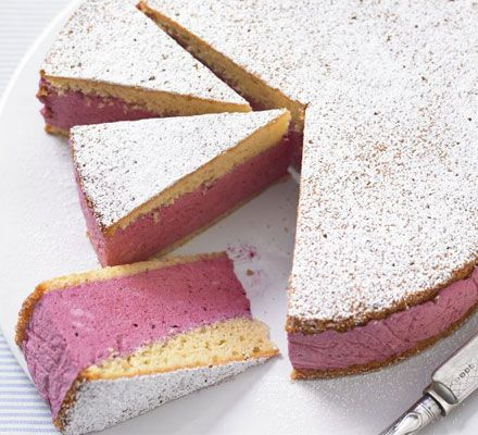 One of my favourite summer desserts to make. So pretty in pink, but a tropical fruit one might be fun to try too this year.