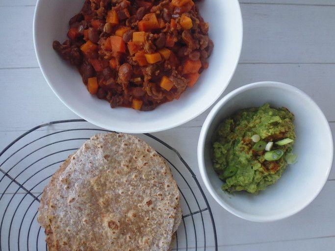 Chili con Carne met guacemole! smakelijck.nl