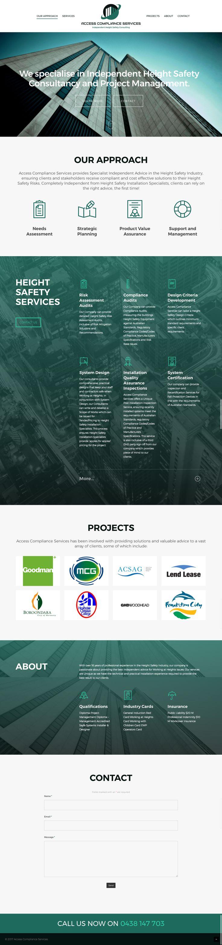 Responsive website UI for height safety consultancy business. Made by KORE. #website #responsive #design #designinspiration #webdesign #UI
