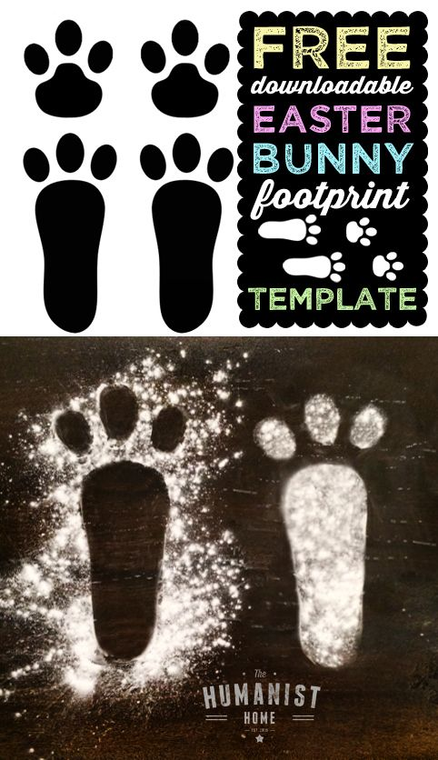 FREE Downloadable Easter Bunny Footprint Template for Easter Egg Hunt