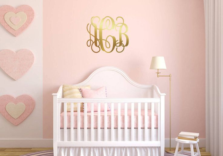 Custom Wall Decal, Monogram Wall Decorations, Vinyl Wall Stickers, Sticker Wall Art, Removable Wall Art, Baby Room Stickers, Wall Decal by GlitterBooze on Etsy https://www.etsy.com/listing/530865073/custom-wall-decal-monogram-wall