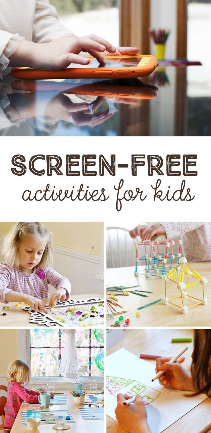 Screen-Free Week Activities for Kids *What a great collection of simple ideas