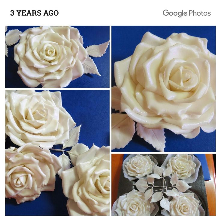 Sugar paste Roses made by me 3 years ago