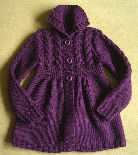 2Мои работы девочкам: кофты, свитера, туники, платья, комплекты Фиолетовая кофта