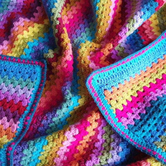 Granny Stripe Blanket - By Lucy at Attic 24 - Free Pattern