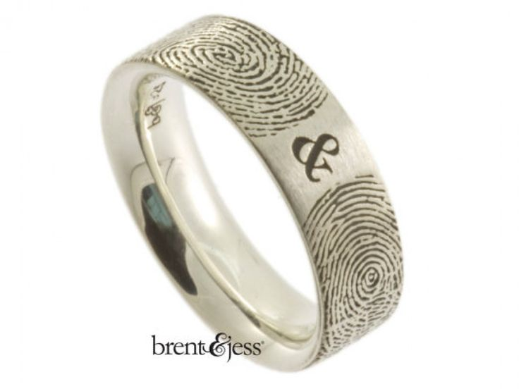 You & Me forever Fingerprint Wedding Ring from brent&jess -- AND there's a giveaway going on right now! https://www.facebook.com/brentjess/photos/a.276532952381260.72971.268498623184693/794893080545242/?type=1&theater