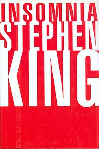 """Insomnia"" is a novel written by Stephen King and first published in 1994. Like It and ""Dreamcatcher"", its setting is the fictional town of Derry, Maine. The original hardcover edition was issued with dust jackets in two complementary designs. This is The first; the second has the white and red colors reversed."