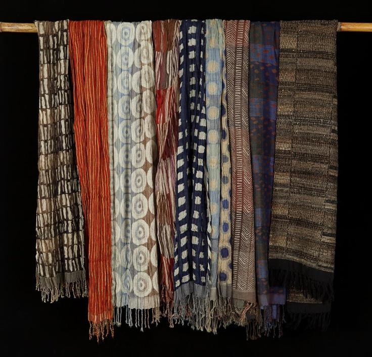 Silk and wool scarves by Neeru Kumar