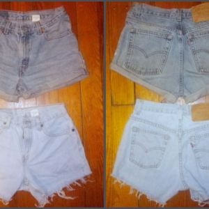 "How to make shorts out of ""mommy"" jeans"