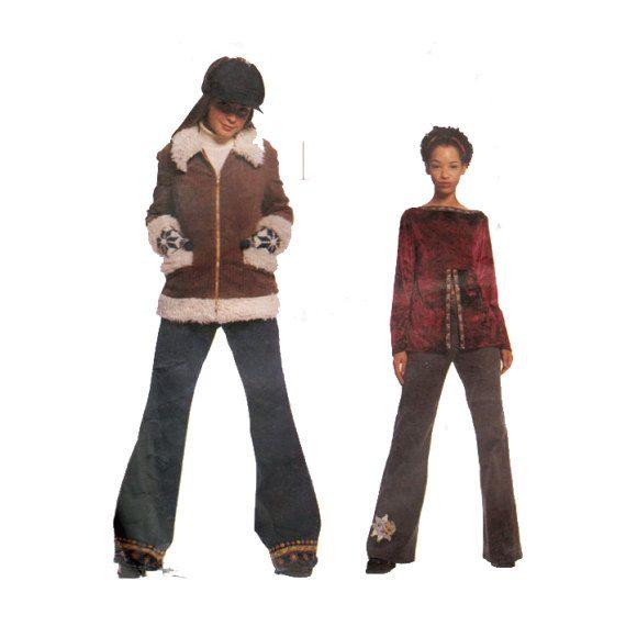 Teen Jacket Empire Waist Blouse Flare Leg Pants by HoneymoonBus
