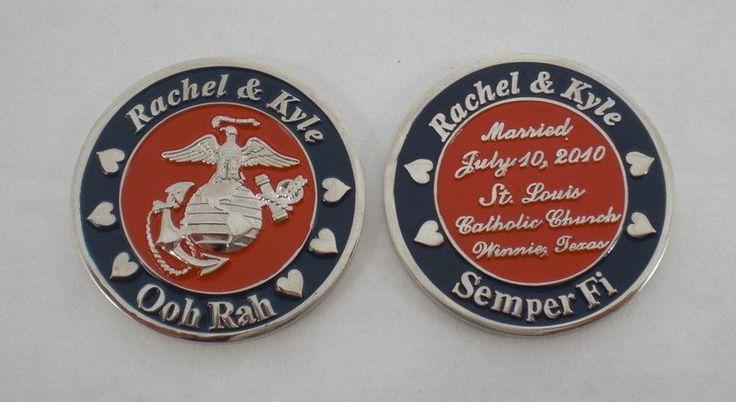 Marine Corps Custom EGA Challenge Coin Wedding Favor