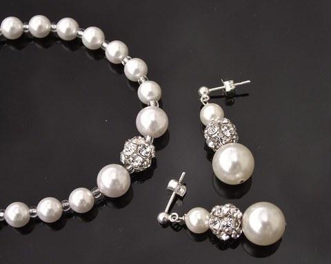 Bracelet & Earring Sets - Bridesmaids Swarovski Pearl Bracelet & Earring Set, Loretta