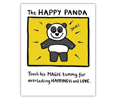 Happy panda, Edward Monkton @ Flamingo gifts