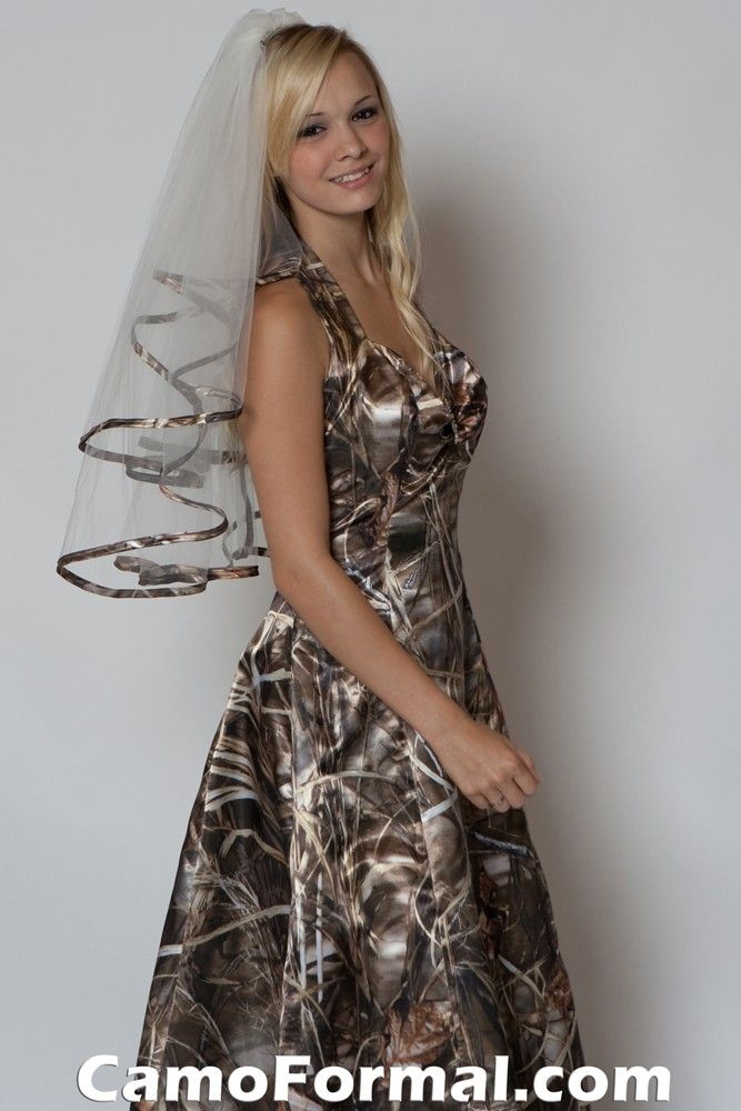 camouflage prom dresses | ... Veils and Tiaras - Wedding Camouflage Prom Wedding Homecoming Formals