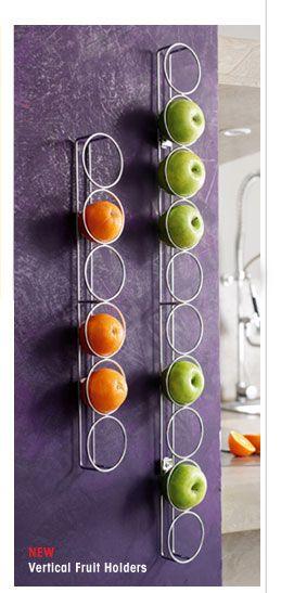 cool fruit holders!: Kitchens Design, Fruit Bowls, Fruit Holders, Vertical Fruit, Art For The Kitchens, Cool Ideas, Design Kitchens, Fruit Art, Houses Design