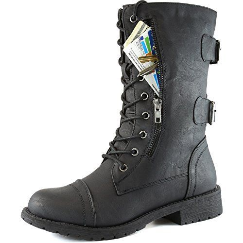 Women's Military Up Buckle Combat Boots Mid Knee High Exclusive Credit Card Money Pocket Pouch, 8.5 DailyShoes http://www.amazon.com/dp/B00M7FMO4G/ref=cm_sw_r_pi_dp_xGHAvb1NJD370