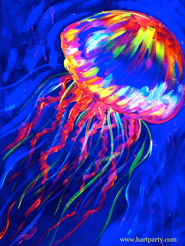Glow Jelly on Hart party with the Art Sherpa blacklight painting party   https://www.youtube.com/watch?v=xGWnqvlVxf0