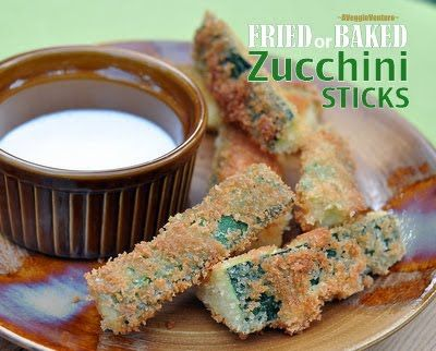Fried Zucchini Sticks vs Baked Zucchini Sticks ♥ It's a face-off between fried and baked, which is better? #AVeggieVenture #WW3