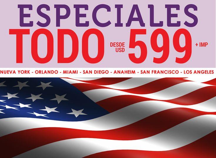 Outlet de viajes a Estados Unidos desde $599 USD, Reserva YA! | Agencia de Viajes en Xalapa Excel Tours