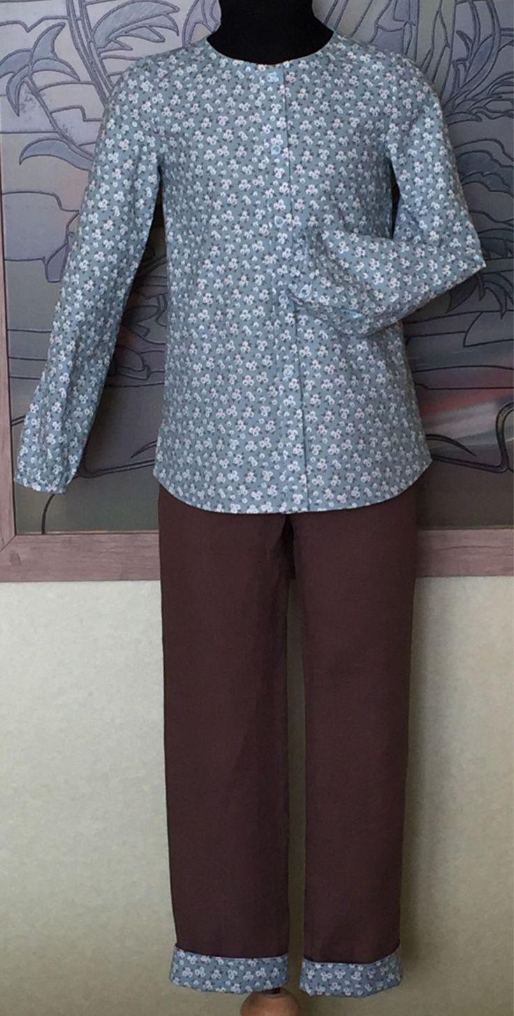 Купить Комплект летний прогулочный в деревенском стиле - комплект, комплект для девочки, комплект прогулочный, брюки