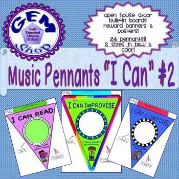Music: I Can Pennants, Bulletin Boards,... by Gem Shop   Teachers Pay Teachers