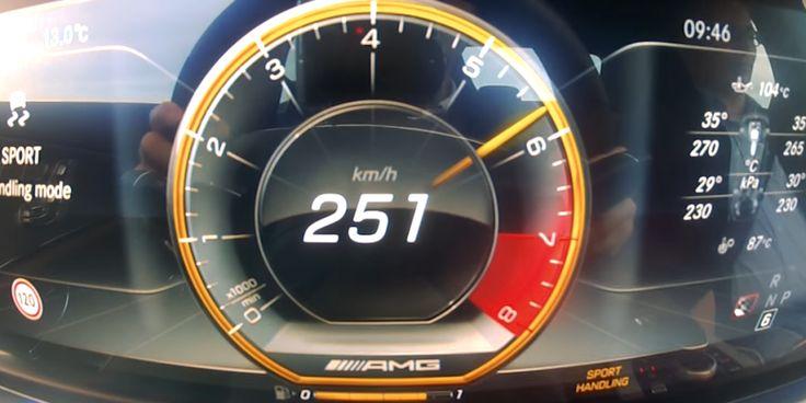 La Mercedes-Benz E63 S AMG accélère très fort