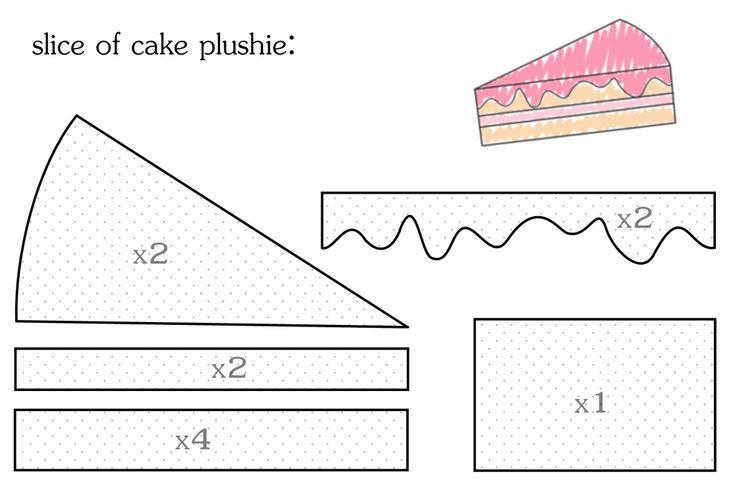 Выкройка пирожного картинки