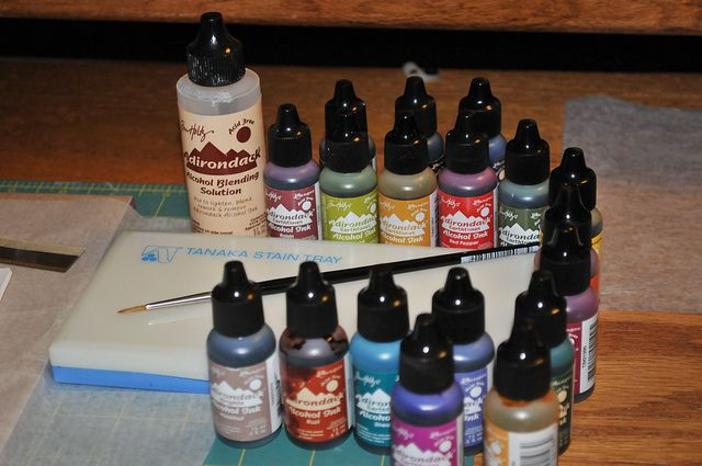 Page McNall's tips for painting with alcohol inks on polymer clay - Link points to a good flickr tutorial on air beads. #Polymer #Clay #Tutorials