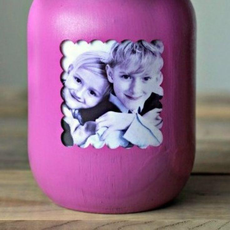 Idee di riciclo creativo Festa dei nonni con le foto dei bambini