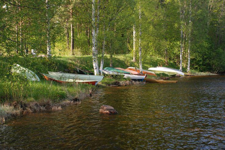 #Imatra, #Finland, rowboats by river Vuoksi by Maija S.