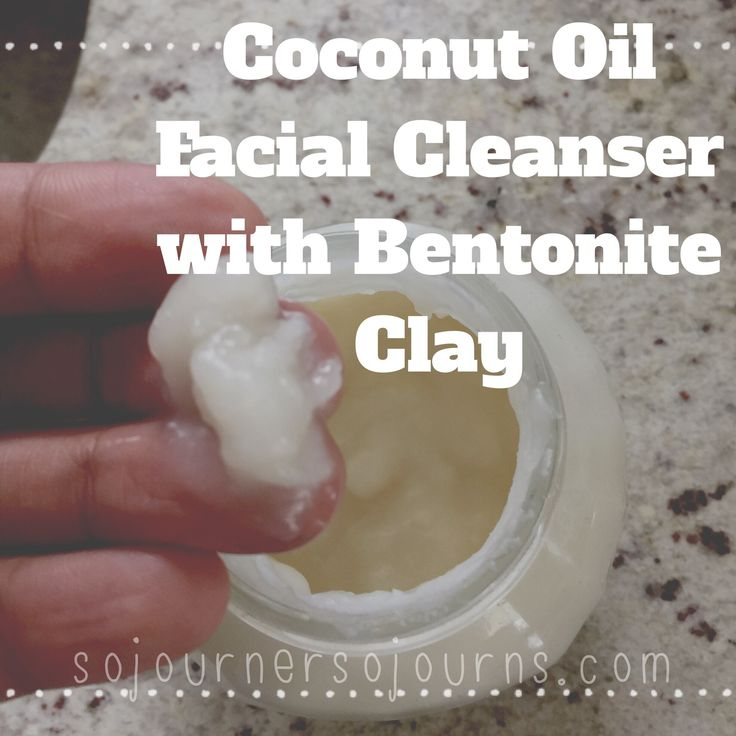 Coconut Oil Cleanser With Bentonite Clay