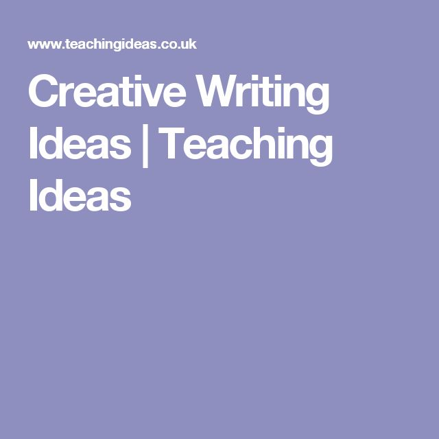 creative writing pdst