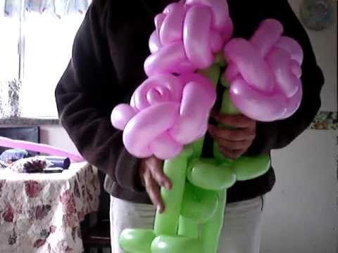 ramo de rosas, bouquet of roses-- very advanced yet very beautiful balloon rose w/ tutorial (en espanol)