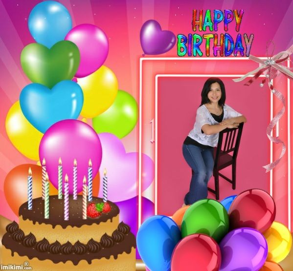 happy birthday frame from wwwimikimicom you can put in a friends pic and post it to wish them a special day free birthday cards pinterest posts