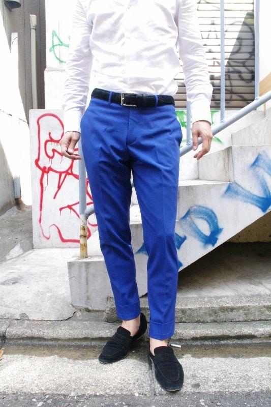 stretch color pants  青だね・・  http://ameblo.jp/avance-aoyama/