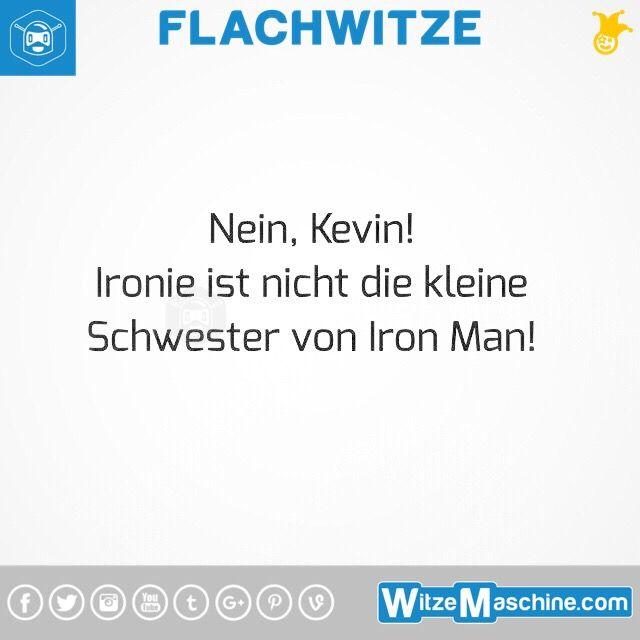 Flachwitze #315 - Kevin Witze - Ironie und Iron Man