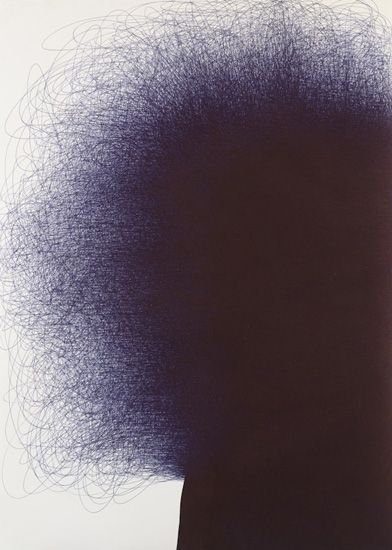 IL LEE, BL-050, 2005, ballpoint pen on paper, 58 3/4 x 42 inches (149.2 x 106.7 cm)