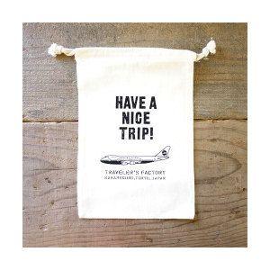 "Midori TF ""Have a nice trip!"" Cotton Gift Bag (Ships on 5th April) by niconecozakkaya on Etsy"