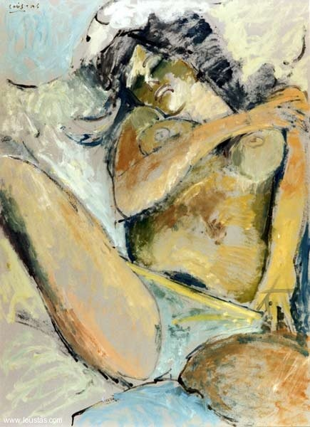 Nude, 1999, Oil on cardboard, 105x75cm, private collection