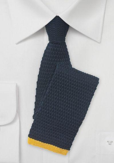 Strick-Krawatte schwarzblau goldgelb