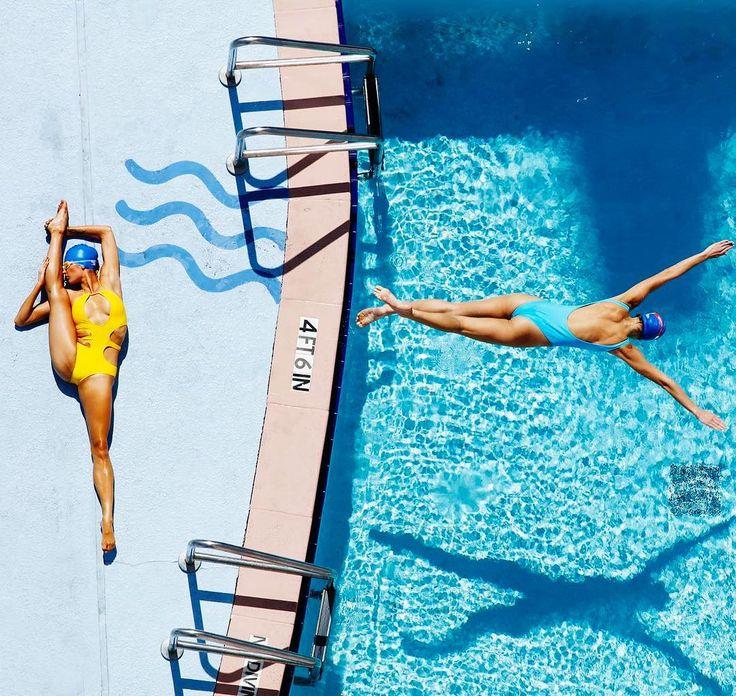 Loving Miami! Great city with great vibes. Poolside with @sunallure and @nastassja.z and @beachbunnyswimwear. So many wonderful pools and locations here. #pool #swim #shoot #stretch #workout #fitness #miami #sun #suntan #sunbathe #poolside
