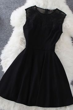 #LBD little black dress classic short bachelorette party classy lace cocktail ni…