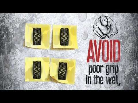 How low can you go?? Dunlop shows you why tread depth can be a sticky subject.
