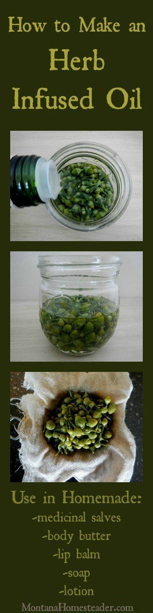 I learned how to make herb infused oil years ago and it is a skill I don't know how I lived without! I use it to make salves, lotion, soap, lip balm, and more!   Montana Homesteader