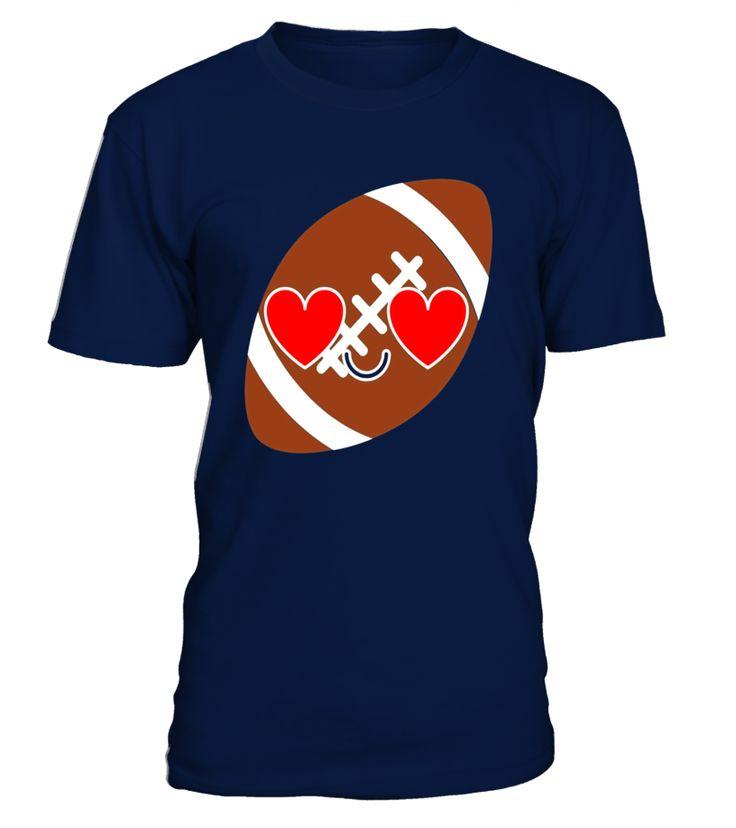 Rugby American Football Emoji Heart Eye Shirt T-Shirt Tee  #AssumptionDay #Germany #Oktoberfest #GermanUnityDay #DayofReformation #AllSaintsDay #StStephensDay