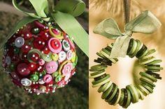 Bottons Christmast decorations - Decorazioni albero di Natale