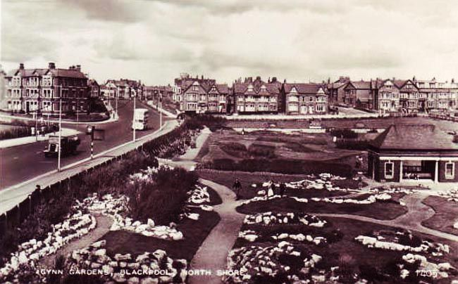 Gynn Gardens, North Shore, Blackpool. #postcards