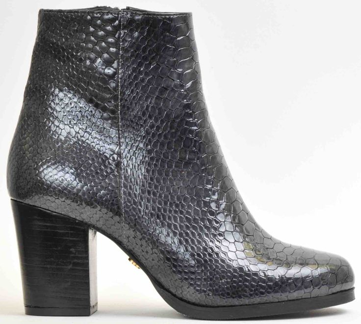 Ankle boot grey snake